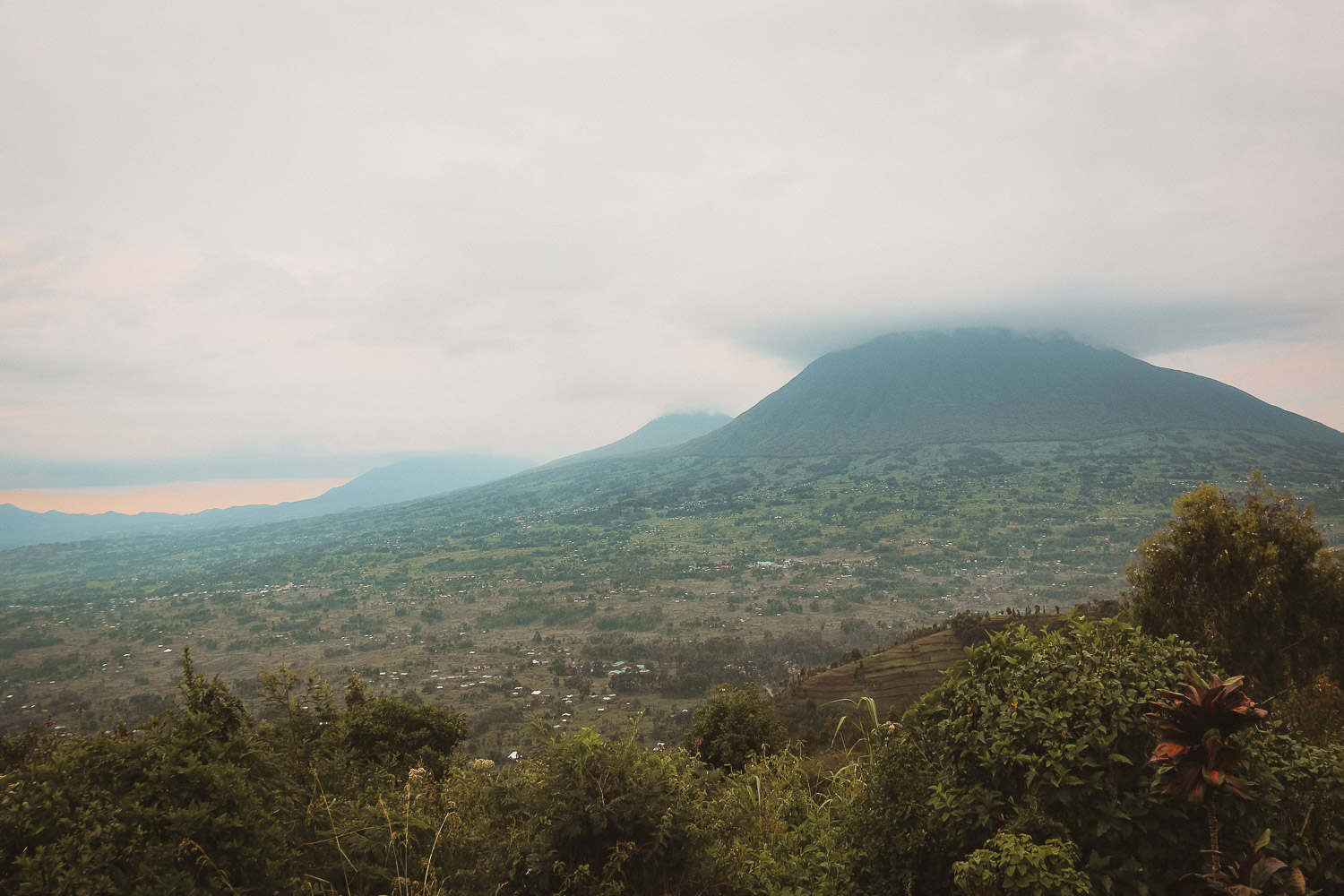 Vulcanoes National Park from Virunga lodge