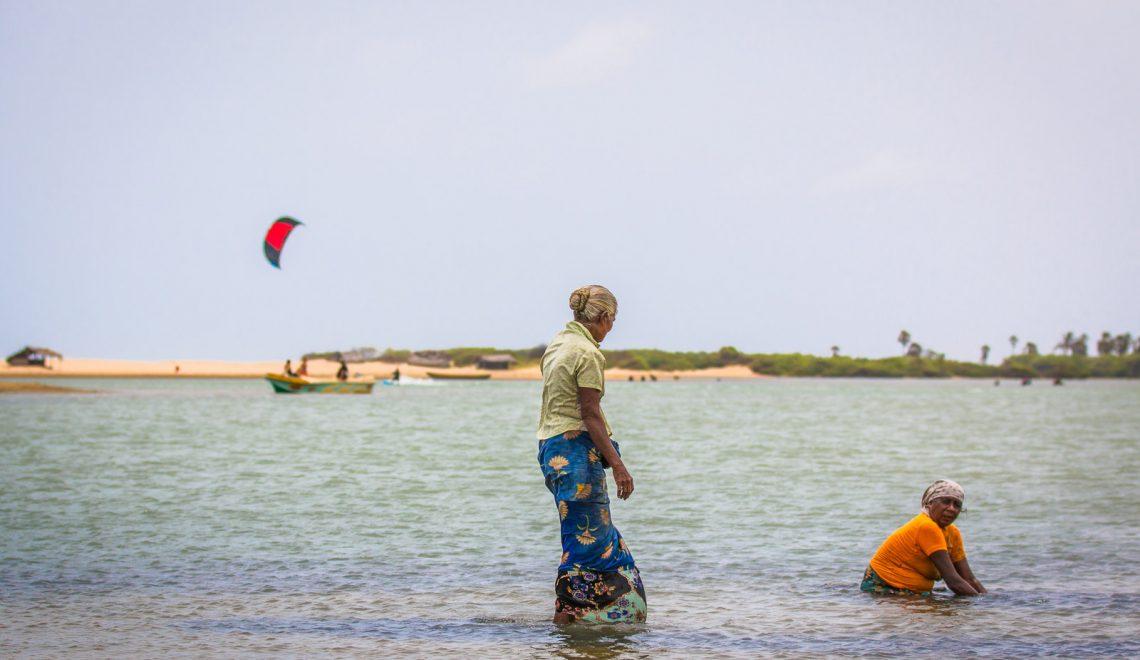 Kite surfing in wild Kalpitiya