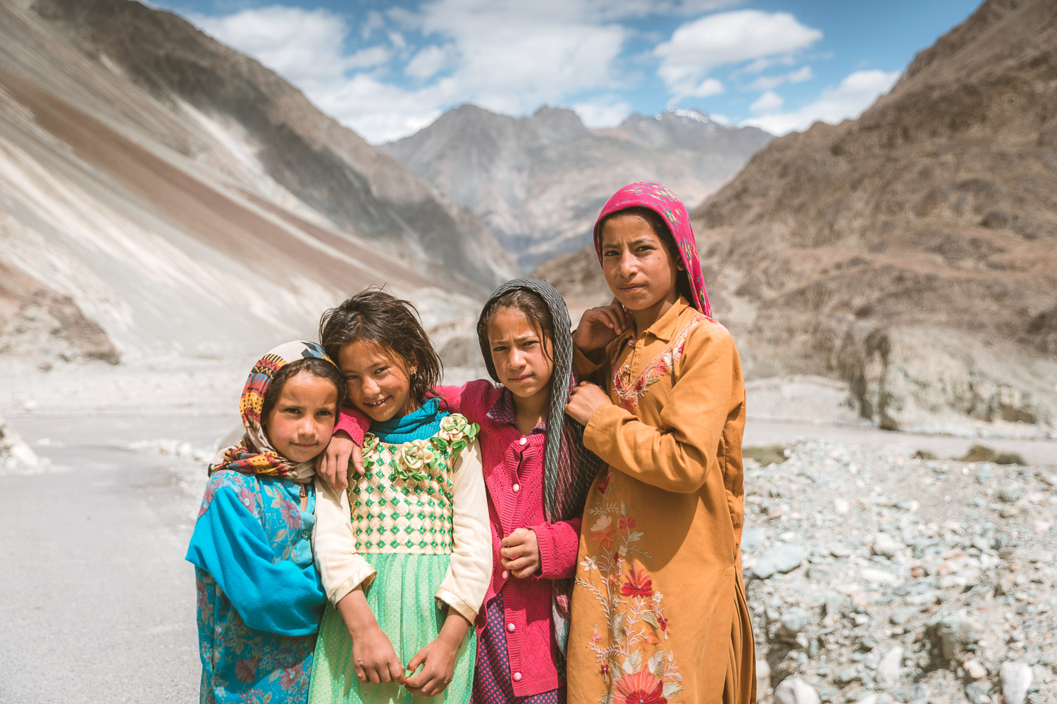 Chang Ma village children in Nubra, Ladakh
