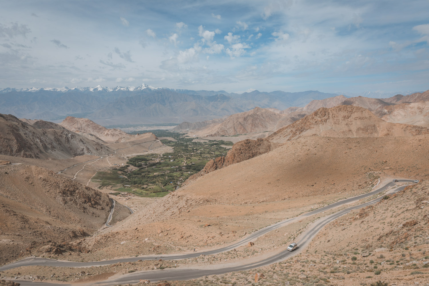 The road to Khardun La. The highest motorable road in the world